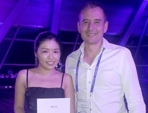 Masters student Dilys Leung with her supervisor, Dr Simon Chu.