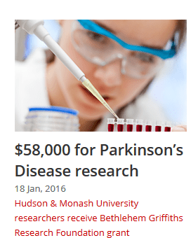 $58000 to unravel the sex specific genetic causes of Parkinsons Disease