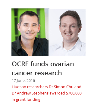 OCRF funds Ovarian Cancer research