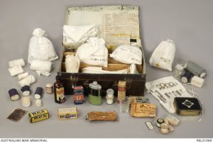 A medical kit from the voluntary aid detachment. Image number: REL31069. Photograph courtesy of the Australian War Memorial.