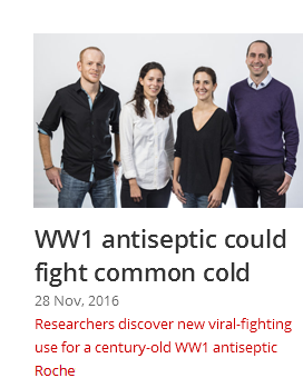 WW1 antiseptic potential
