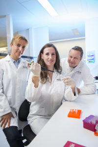 Associate Professor Marcel Nold and Dr Claudia Nold and Dr Ina Rudloff showed that an anti-inflammatory drug, interleukin 1 receptor antagonist (IL-1Ra), could be given as a preventative measure in the hours after birth to prevent the development of bronchopulmonary dysplasia (BPD).