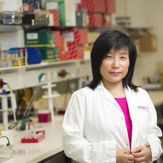 Professor Giuying Nie from the Implantation and Placental Development Research Group at Hudson Institute