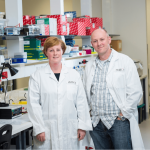 Dr Michelle Tate and A/Prof Ashley Mansell from Centre for Innate Immunity and Infectious Diseases at Hudson Institute
