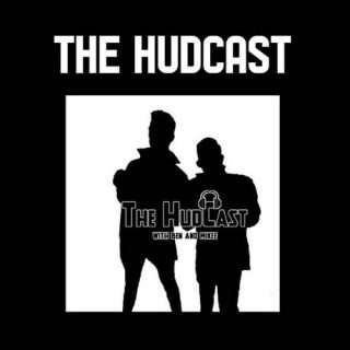 Black and white 'The Hudcast' logo with Ben Amberg and Mikee Inocencio