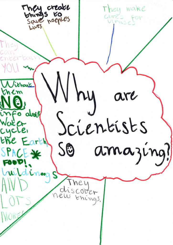 Thank you letter, Gratitude Project from primary school student thanking scientist during Covid-19