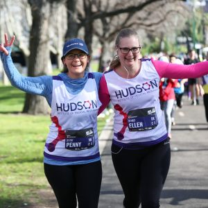 Penny Whiley and Ellen Menkhorst taking part in 2019 Run Melbourne