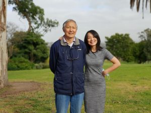Dr Jun Yang pictured with her father who battled hypertension when he had a hormonal condition called primary aldosterone.