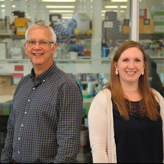 Professor Vincent Harley and Janelle Ryan at Hudson Institute of Medical Research